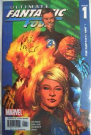 Ultimate Fantastic Four #1 Dynamic Forces Signed Mark Millar COA Ltd 499 DF